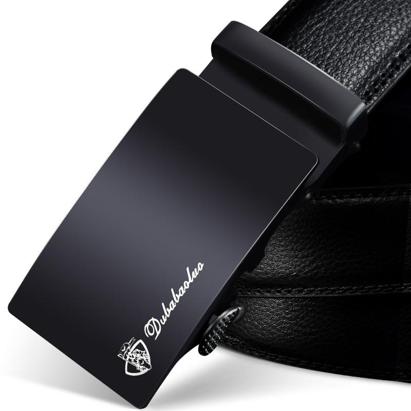 独霸保罗男士皮带真皮自动扣腰带韩版潮休闲中年青年商务牛皮裤带